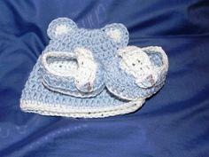 Scarpine scarpette mocassini cappellino  neonato bebè uncinetto crochet, by Nuvola rossa, 15,50 € su misshobby.com