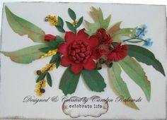 Stampin Up Dies made these beautiful Australian Wild Flowers.
