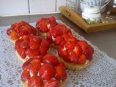 Aardbei mascarpone gebakjes