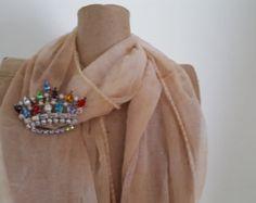 Signed B. David Vintage Multicolor Rhinestone Brooch - B. David Vintage Jewelry - B. David Vintage Crown Brooch - Vintage Costume Jewelry - Edit Listing - Etsy
