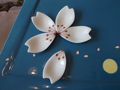 Beautiful Sakura petals, Imari-Nabeshima porcelain, By Hataman Kiln