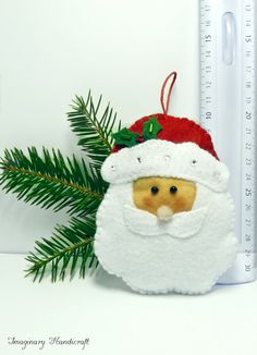 Santa Claus ornament Christmas tree van ImaginaryHandicraft op Etsy