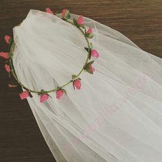 Floral wedding veil #jualveil #jualweddingveil #jualflowercrown