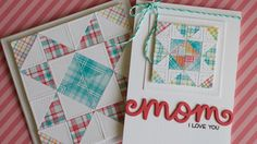 How to make a paper quilt card (video)