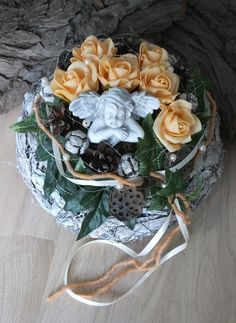 Funeral Flowers, Floral Arrangements, Diy And Crafts, Vegetables, Christmas, Deco, Baskets, Food, Ebay