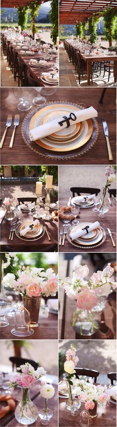 Simple elegant place settings