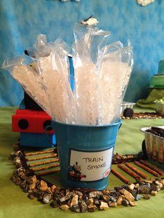 Thomas the Train Birthday Party- chocolate rocks make it all!