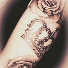 cool Top 100 crown tattoo - http://4develop.com.ua/top-100-crown-tattoo/ Check more at http://4develop.com.ua/top-100-crown-tattoo/