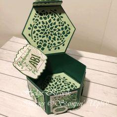 """Stampin' Up!® Hexagonbox in einer der Trendfarben 2017: """"Greenery"""""""