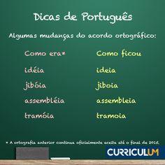Mantenha seu currículo na ortografia correta e atualizada com a ANÁLISE ou REVISÃO DE CURRÍCULO: http://www.curriculum.com.br/candidatos-ferramentas-revisao-e-analise.asp #DicasCurriculum