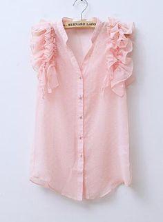 Ruffles Jacquard Sheer Shirt,  Top, Ruffles Shirt  Jacquard Shirt  Sheer Shirt, Chic