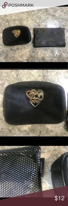 Two Makeup Bags, 1 Juicy Couture 1 Sephora Two Makeup Bags, 1 Juicy Couture 1 Sephora, gently used. Juicy Couture Makeup