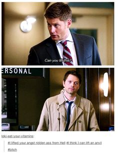 Cas is so done with Dean
