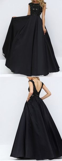 Elegant Prom Dress New Gorgeous with cap sleeves Sweet 16 Gowns black evening dresses long Quinceanera Dresses