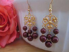 Free shipping Ladies earrings Christmas earrings by MarysRemedies, $18.00