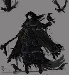 Raven Witch by on DeviantArt Witch Characters, Dungeons And Dragons Characters, Fantasy Characters, Female Characters, Fantasy Rpg, Medieval Fantasy, Dark Fantasy, Fantasy Character Design, Character Drawing