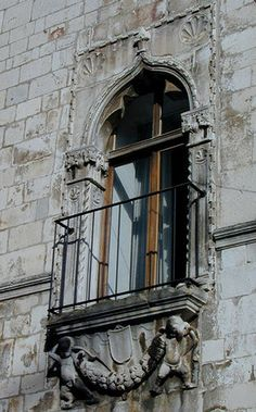 old roman window in the city of Zadar, Croatia