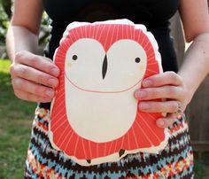 plush owl pillow ++ gingiber