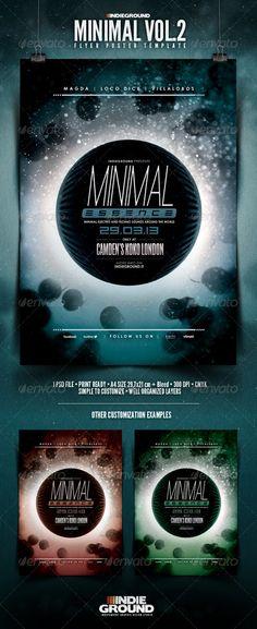 Minimal Flyer/Poster Vol. 2