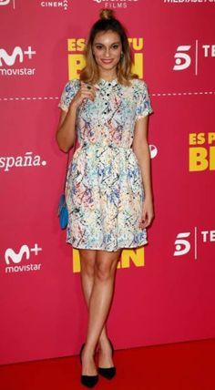"""Norma Ruiz con vestido guava de midiroom13 elegido por ella para el preestreno de la pelicula  """" es lo que hay""""."""