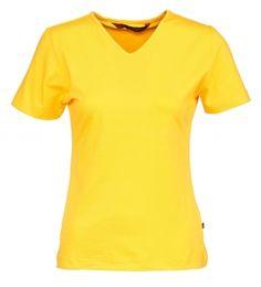 Naisten t-paita, slim LH. Lyhythihainen. Tyköistuva. Materiaali 95 % puuvilla ja 5 % elastaani. Grammapaino: 210 g/m².