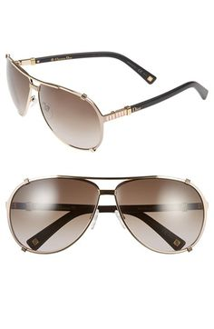 a5b67205cf Dior  Chicago 2 Strass  63mm Aviator Sunglasses available at  Nordstrom  Nordstrom Sunglasses
