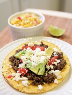 The Lovely Cupboard: Meatless Meal: Lentil Tostadas. I made this for dinner tonight and it was good! I used pre made lentils that I bought from costco.