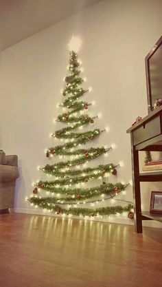 Easy Christmas Decor From simple to amazing Notable tips and tricks to form a fun and charming simple christmas decor diy xmas trees . Xmas image provided on this day 20190114 , exciting post reference 3707337813 Wall Christmas Tree, Noel Christmas, Winter Christmas, Diy Christmas Wall Decor, Xmas Trees, Tinsel Tree, Outdoor Christmas, Christmas Projects, Christmas Tree Made Of Lights