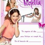 Invitaciones de Cumpleaños de Violetta