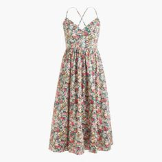 Lace-up back dress in Liberty® Thorpe floral