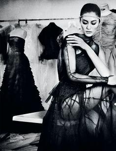 Liu Wen by Gan for Harper's Bazaar