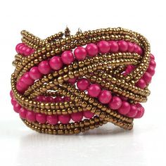 pink and gold beaded jewelry - Google Search