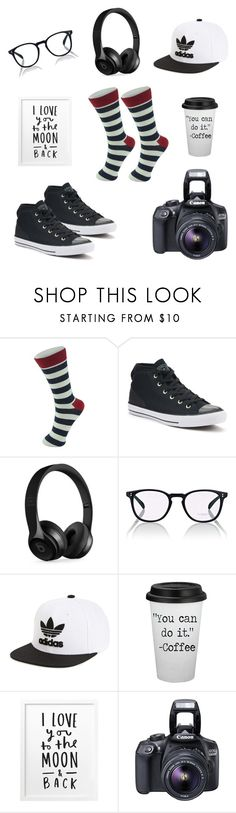 """socks"" by larisa-mushinskaya on Polyvore featuring Alpine, Converse, Beats by Dr. Dre, Oliver Peoples, adidas Originals, Eos, men's fashion и menswear"