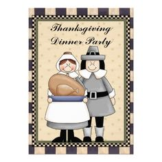 Thanksgiving Dinner party fun Invitation