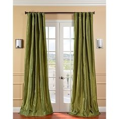 Shop for Exclusive Fabrics Fern Green Solid Faux Silk Taffeta Curtain Panel. Get free delivery at Overstock.com - Your Online Home Decor Outlet Store! Get 5% in rewards with Club O!