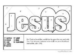 Homeschool Printables Jesus Color By Numbers