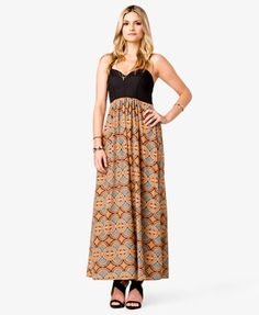 Mosaic Maxi Dress   FOREVER 21 - 2008584323