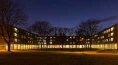 """April 9, 2013: """"Good Night, Goodwin-Kirk."""" Baron Cao, sophomore actuarial science and mathematics double major, submitted this photo of Goodwin-Kirk upperclass residence hall."""