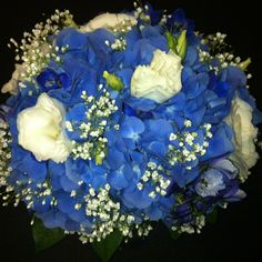 baby breath and blue flowers bouquets - Google Search