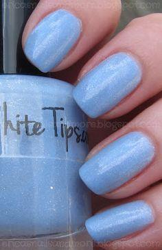 Ruby White Tips - Polish With No Name