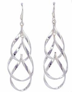 BKGjewelry Fashion Trend Drop & Dangle Earrings 925 Sterling Silver [ISE0006] #BKGjewelry #DropDangle