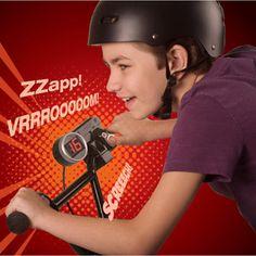 Fuze Speedometer Bike Accessory (at walmart.com).  Has fun sound effects - great gift idea!!!