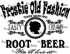 Frostie Old Fashion Root Beer Sign Graphic Wood by GeorgesKitchen