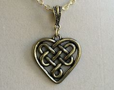 Celtic Heart Pewter Necklace