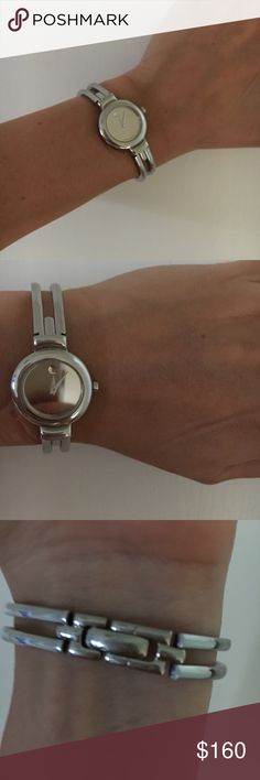 Movado Silver-Women's Watch Movado Silver Women's Watch-mirror face, excellent condition, needs a new battery-feel free to make an offer-😊 Movado Accessories Watches