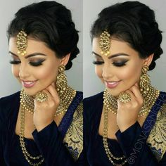Makeup: Mona Sangha … Makeup: Mona Sangha … desi bridElegant Makeup For IndianNew Makeup Looks For Sout Indian Makeup Face, Indian Wedding Makeup, Asian Bridal Makeup, Indian Wedding Hairstyles, Bridal Makeup Looks, Bridal Hair And Makeup, Bride Makeup, Wedding Hair And Makeup, Hair Makeup
