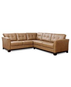 """Martino Leather Sectional Sofa, 2 Piece (Sofa and Apartment Sofa) 109""""W X 94""""D X 35""""H - furniture - Macy's"""