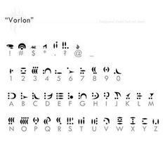 """Vorlon"" font ref sheet + resources 2 hours Click Download for an .rar containing: - the .jpeg font ref sheet - all viable characters in .png - Original .ttf font, ""Vorlon"" by Mike H. Lee et al. Us..."