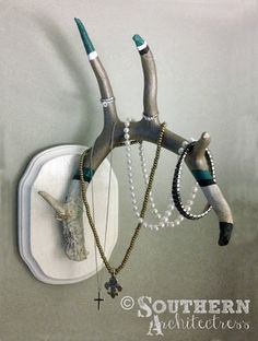 DIY Antler Jewelry Organizer by Southern Architectress http://southernarchitectress.blogspot.com/