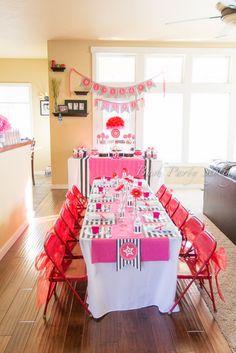 "Photo 1 of 22: American Girl, 5th Birthday / Birthday ""Olivia's American Girl Doll Party"""